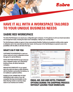 Sabre Red Workspace