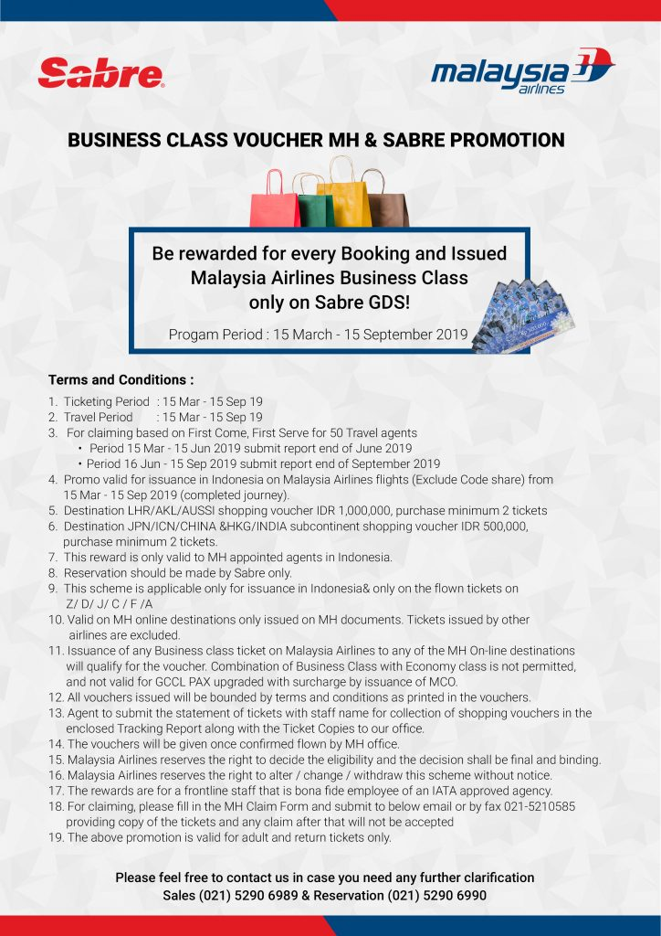 Joint Promo MH Business Class